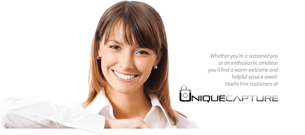 Girl smiling at professional commercial photographer