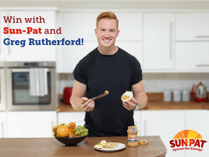 Greg Rutherford and Sun-Pat Peanut Butter