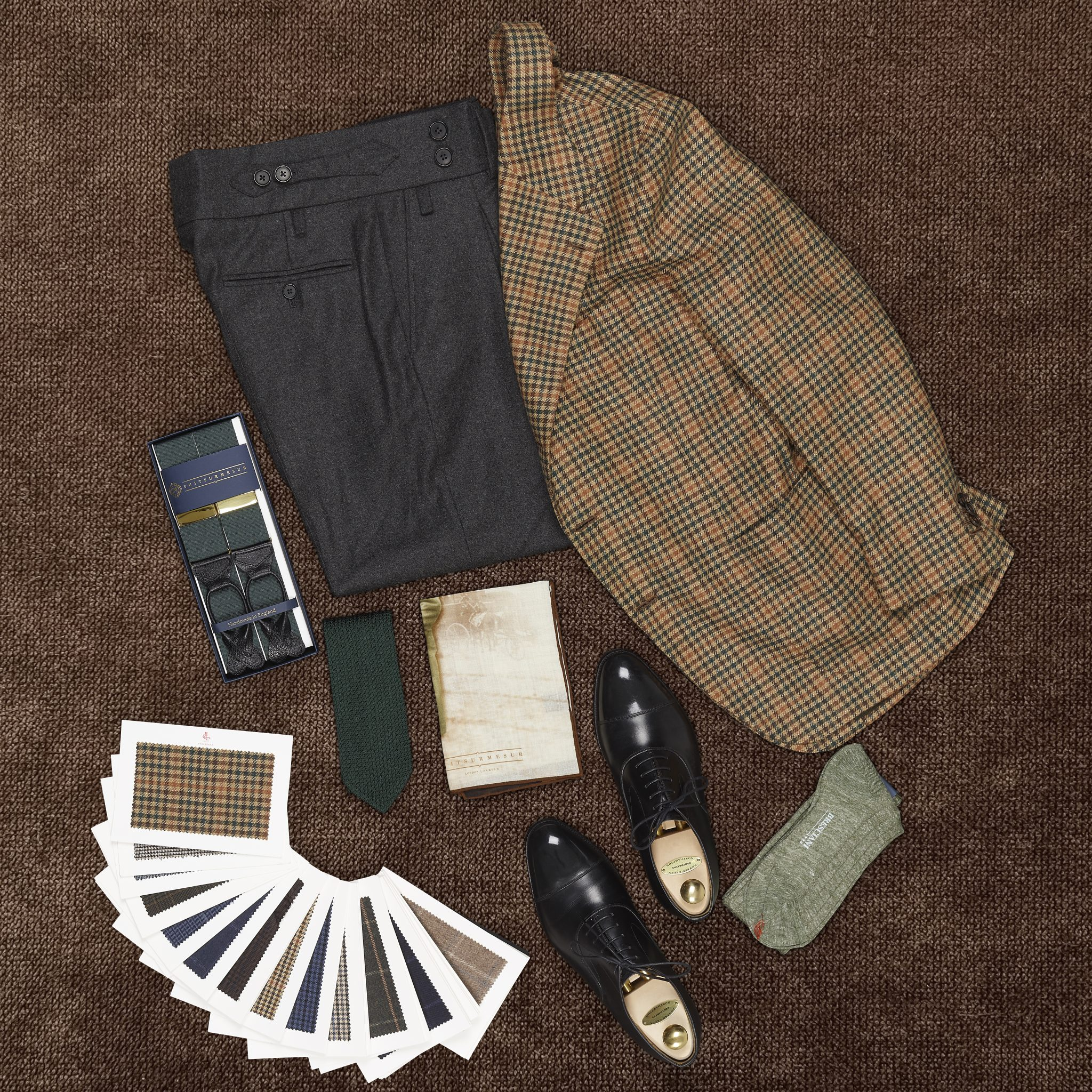 clothing photography flat lay